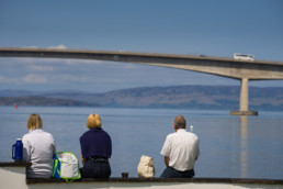 Turisti na Isle of Skye